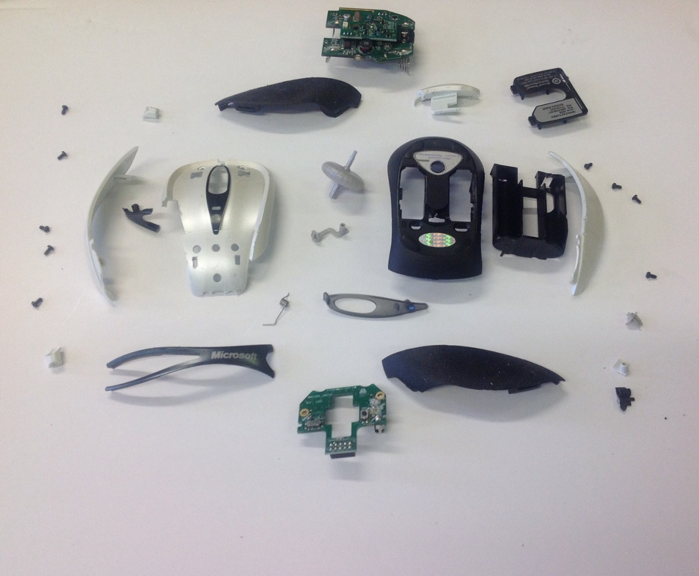 Microsoft Computer Mouse Deconstruction