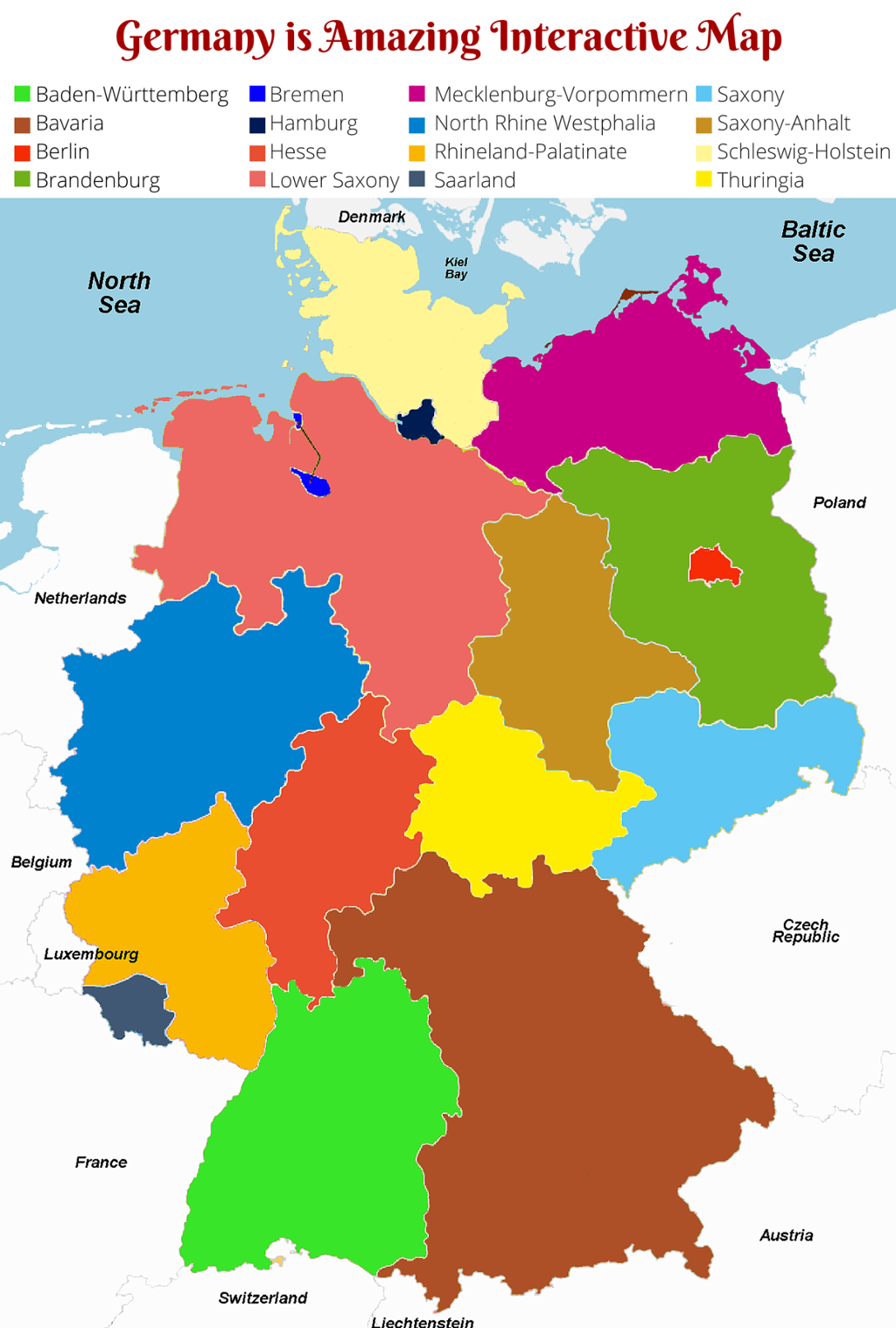 Interactive Map of Germany Germany is Amazing