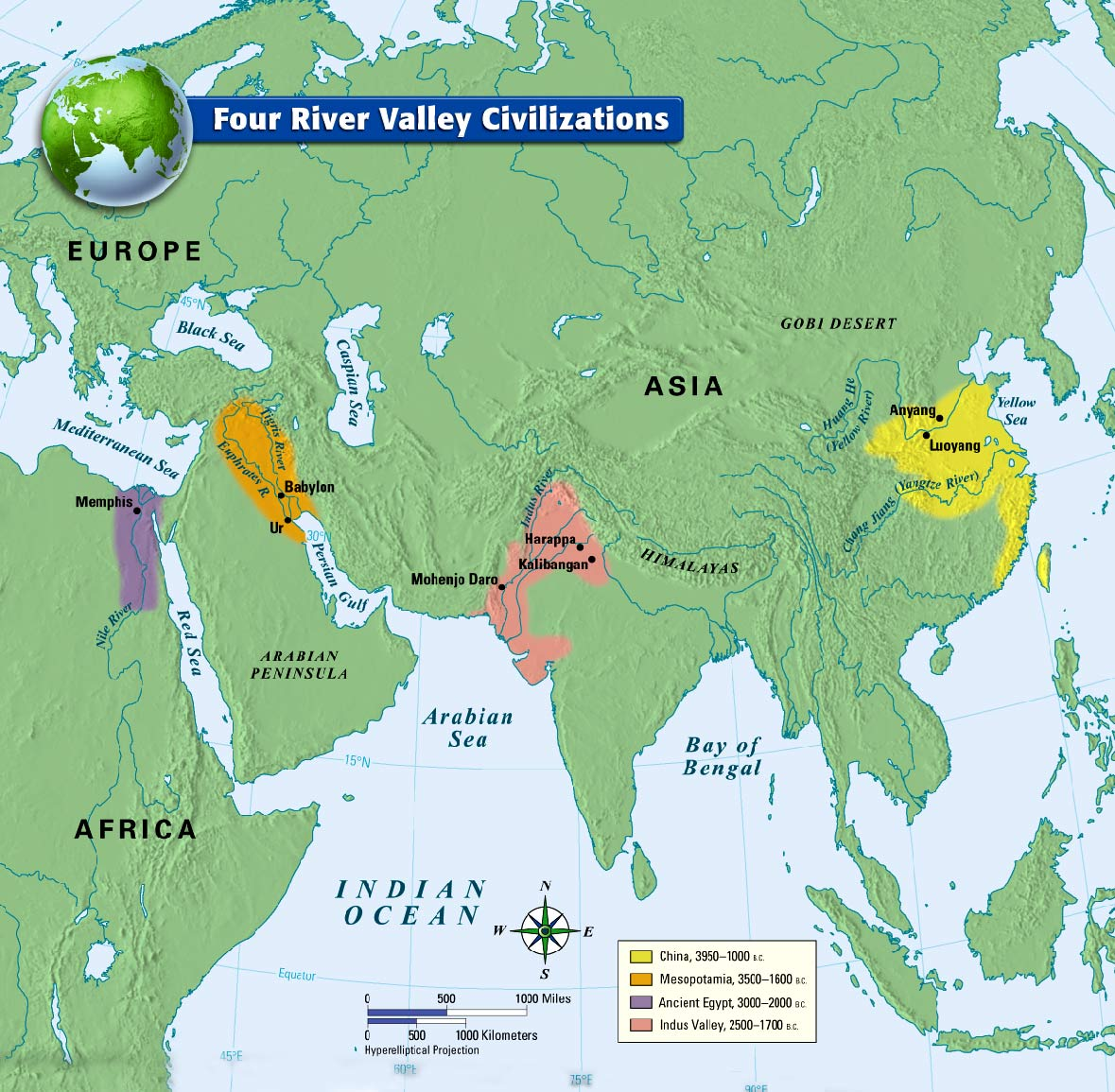 first four river valley civilizations