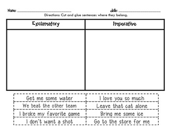 Printables Imperative And Exclamatory Sentences Worksheet printables imperative and exclamatory sentences worksheet ms opare saforo thinglink sentences