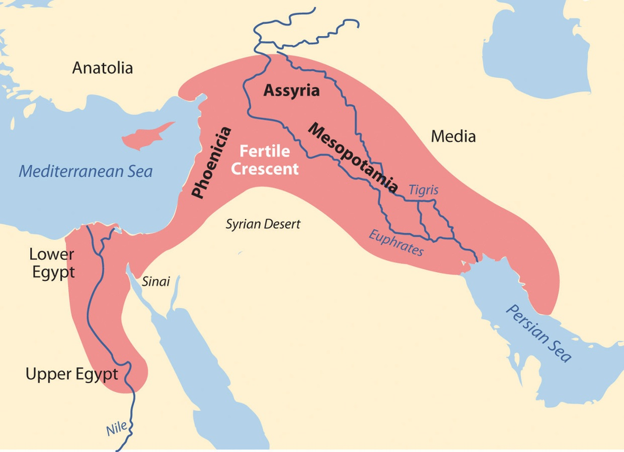 Fertile Crescent Interactive Map
