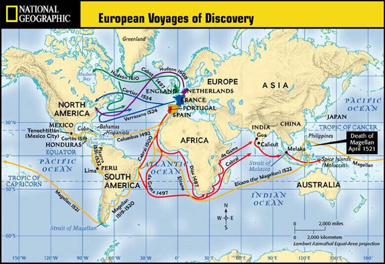 four west european explores that traveled European exploration of the americas, 1492-1700 europeans explored and colonized the - moves line of demarcation 800 miles west - gives portugal much of eastern south america 1 • spanish colonial society has four levels.