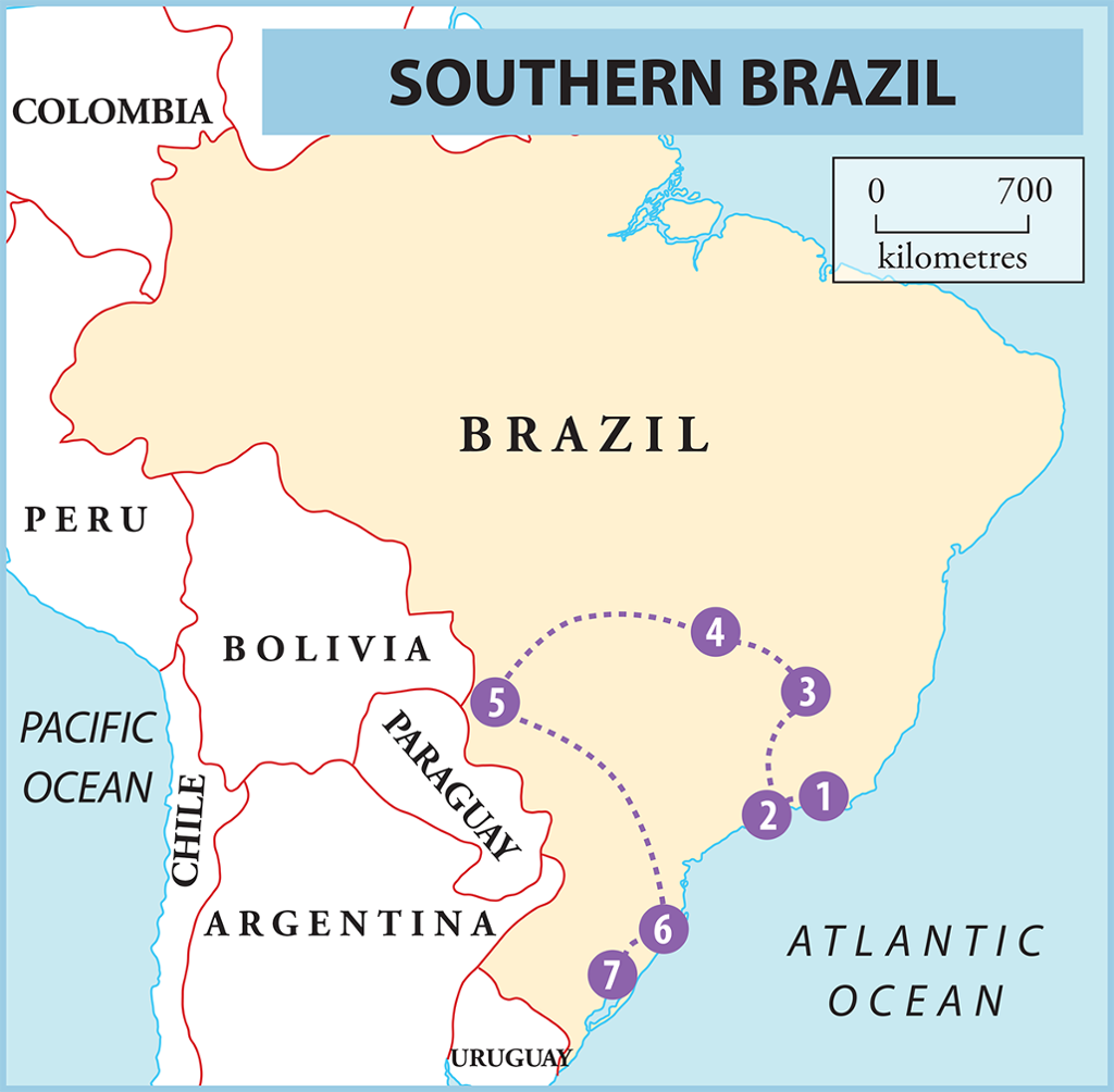 Tip Of South America Map.Your South America Itinerary 7 Ideas For Exploring The Continent