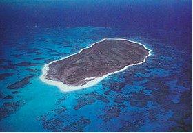 The volcanic island is undergoing the slow process of ero...