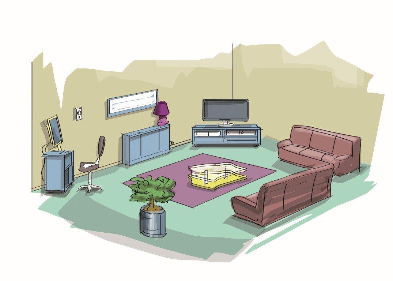 dans le salon thinglink. Black Bedroom Furniture Sets. Home Design Ideas