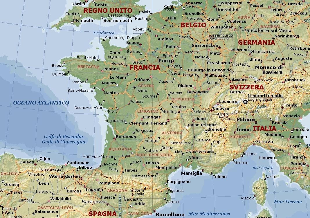 Francia fisica thinglink - Mappa di ungheria ed europa ...