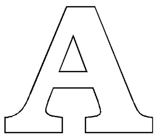 It is an image of Gargantuan Letter a Print Out