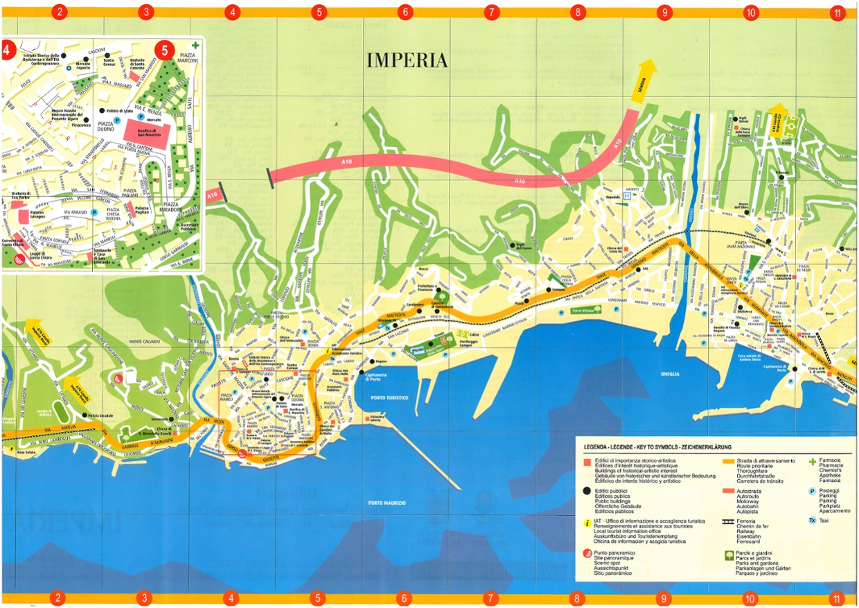 """Mappa Interattiva della Città di Imperia - ITT """"T. Hanbury"""""""