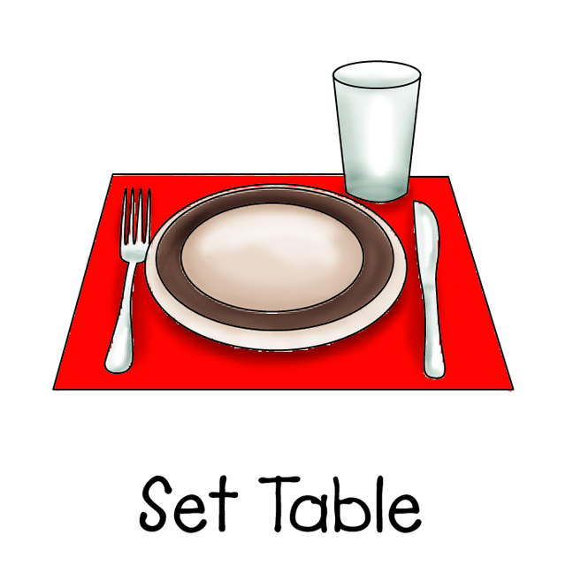 Put Away Clothes In Spanish ~ B spanish table settings vocab thinglink