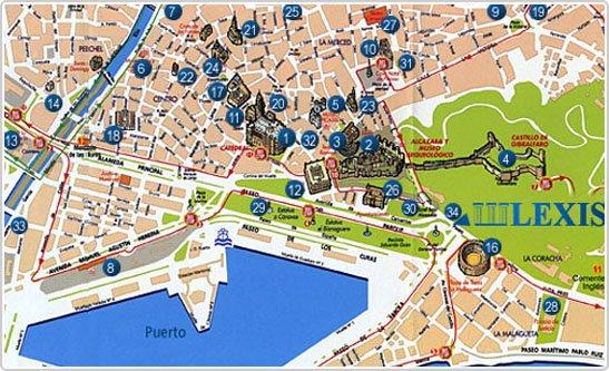 Carte de m laga thinglink - Office tourisme torremolinos ...