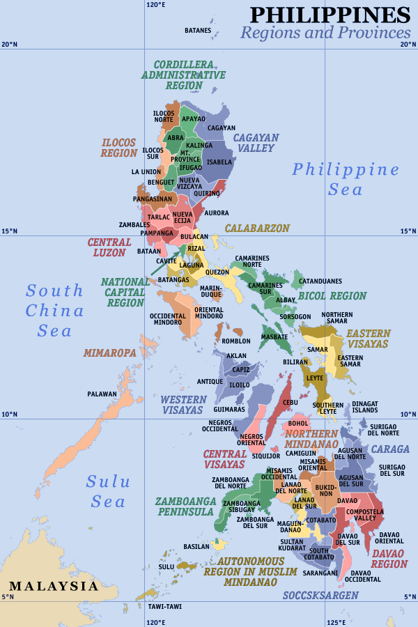 Themes Philippines ThingLink - Map of the phillipines