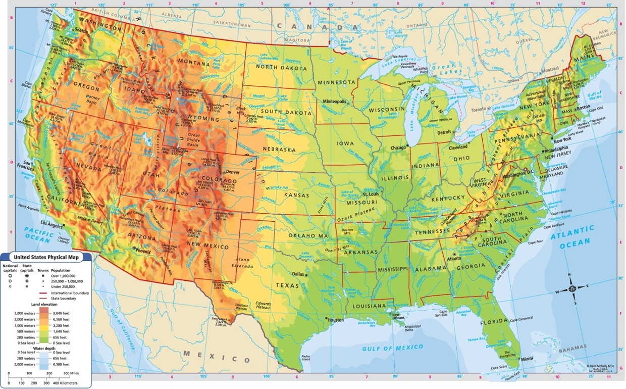 Collection Of Diagram World Map Of Usa Download More Maps - Interactive topographic map of us