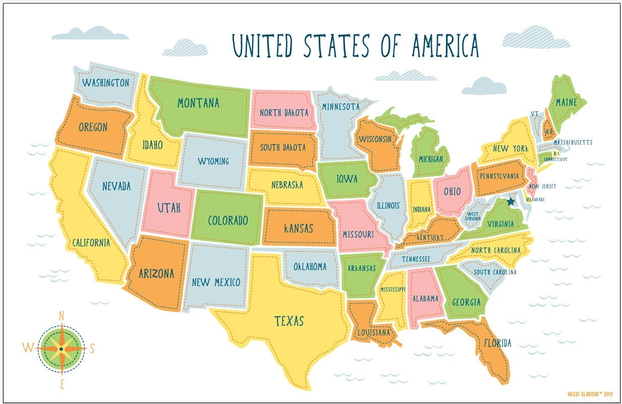 Usa Historical Map Facts
