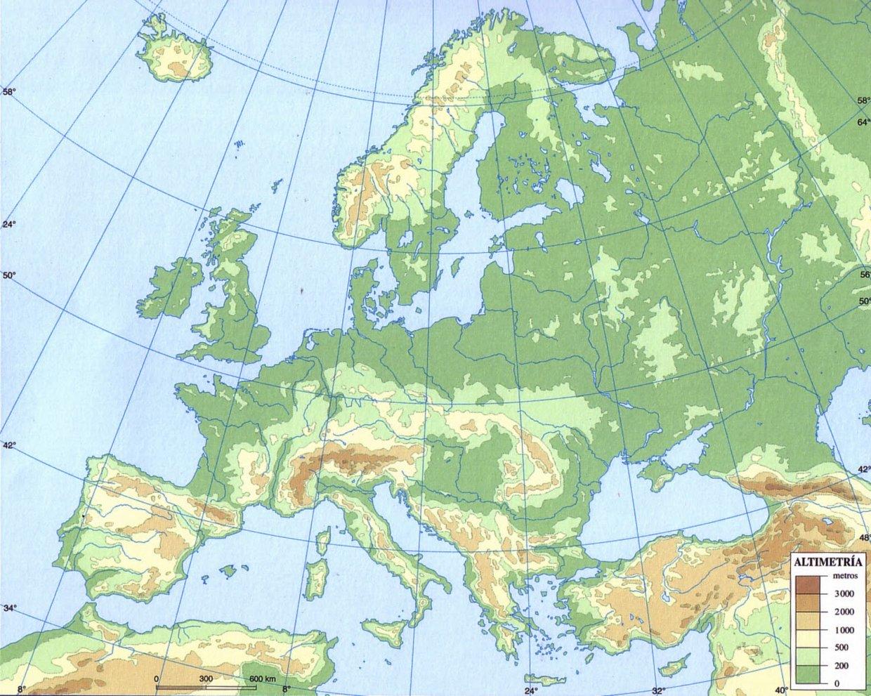 Mapa Fisic De Europa.Mapa Fisico De Europa