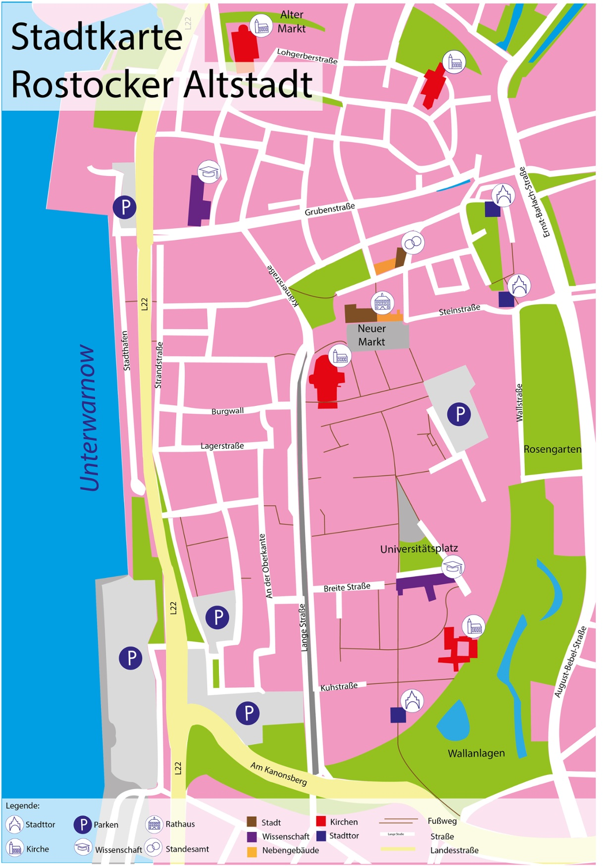 Interaktive Stadtkarte der Rostocker Altstadt