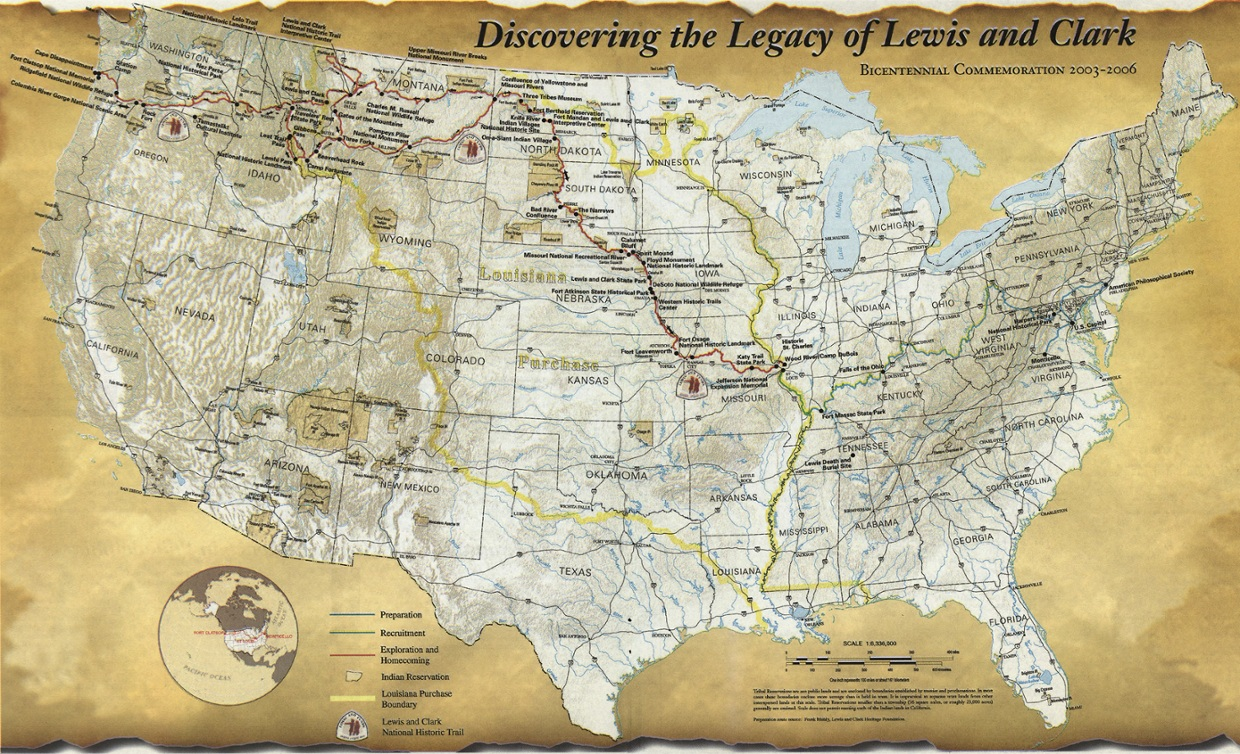 the lewis and clark exploration The lewis and clark expedition to the louisiana purchase traveling 8,000 miles (12,800 km), the expedition gathered huge amounts of information about the landscapes, flora (plants), fauna (animals), resources, and people (mostly native americans) it encountered across the vast territory of the louisiana purchase.