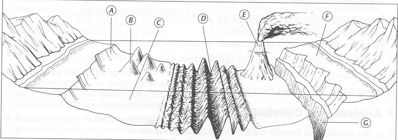 feature of the ocean floor