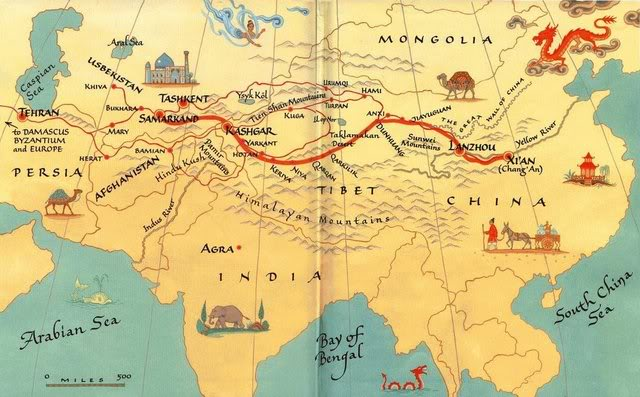 changes continuities of silk road The silk road the silk road was a trading route, beginning in china and created during the han dynasty, which acted as the main artery of trade throughout eurasia running through its veins were not only asian luxuries and european staples, but.