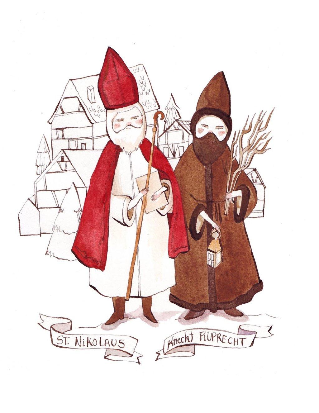 Knecht Ruprecht ist St. Nikolaus Helfer