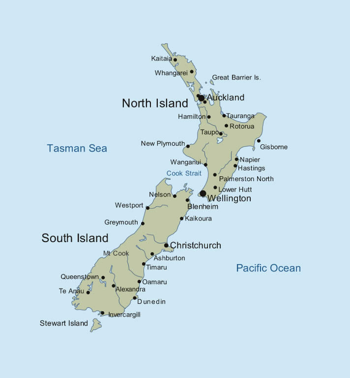 Nz Map ThingLink - Map new zealand
