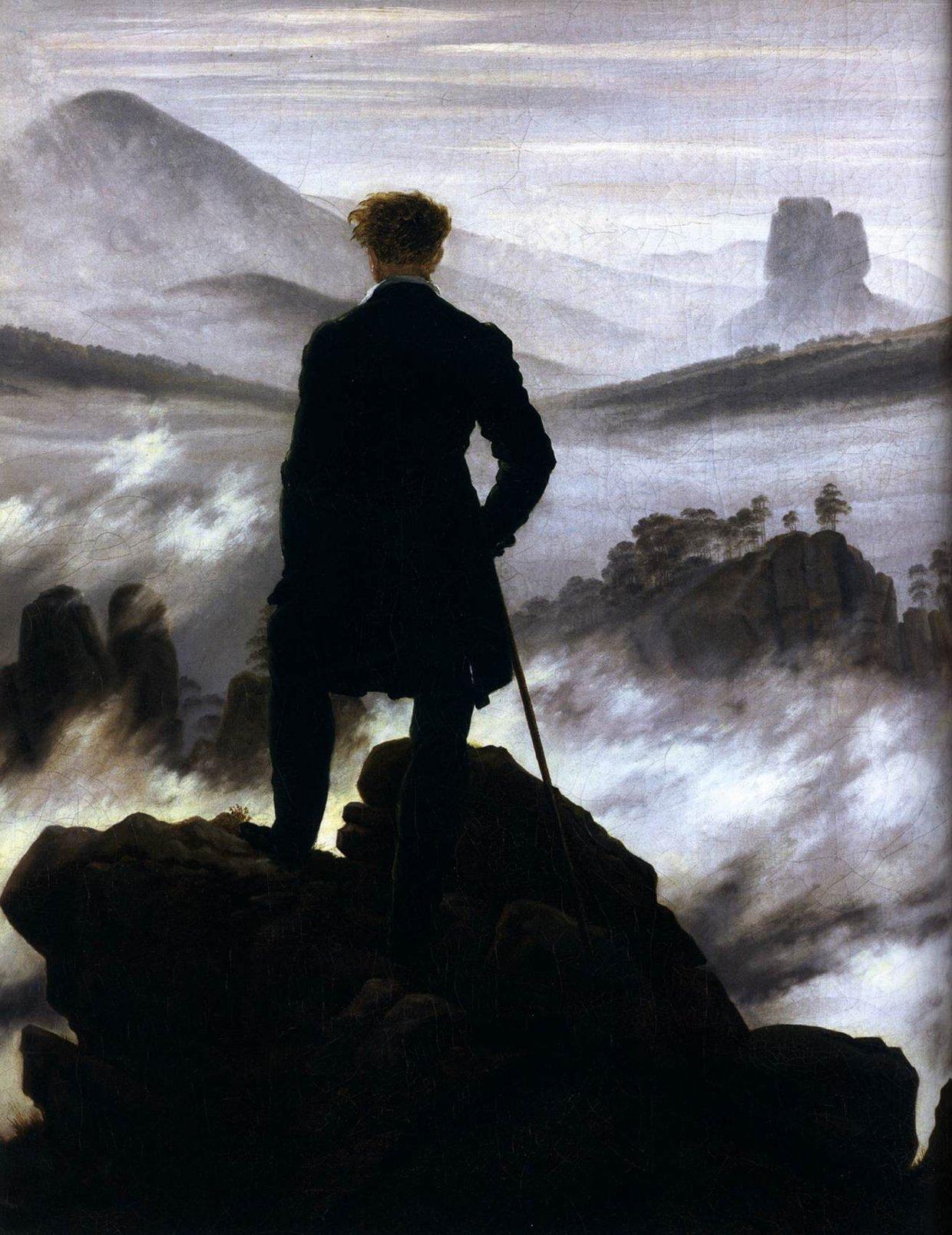 Resultado de imagen de El caminante sobre el mar de niebla