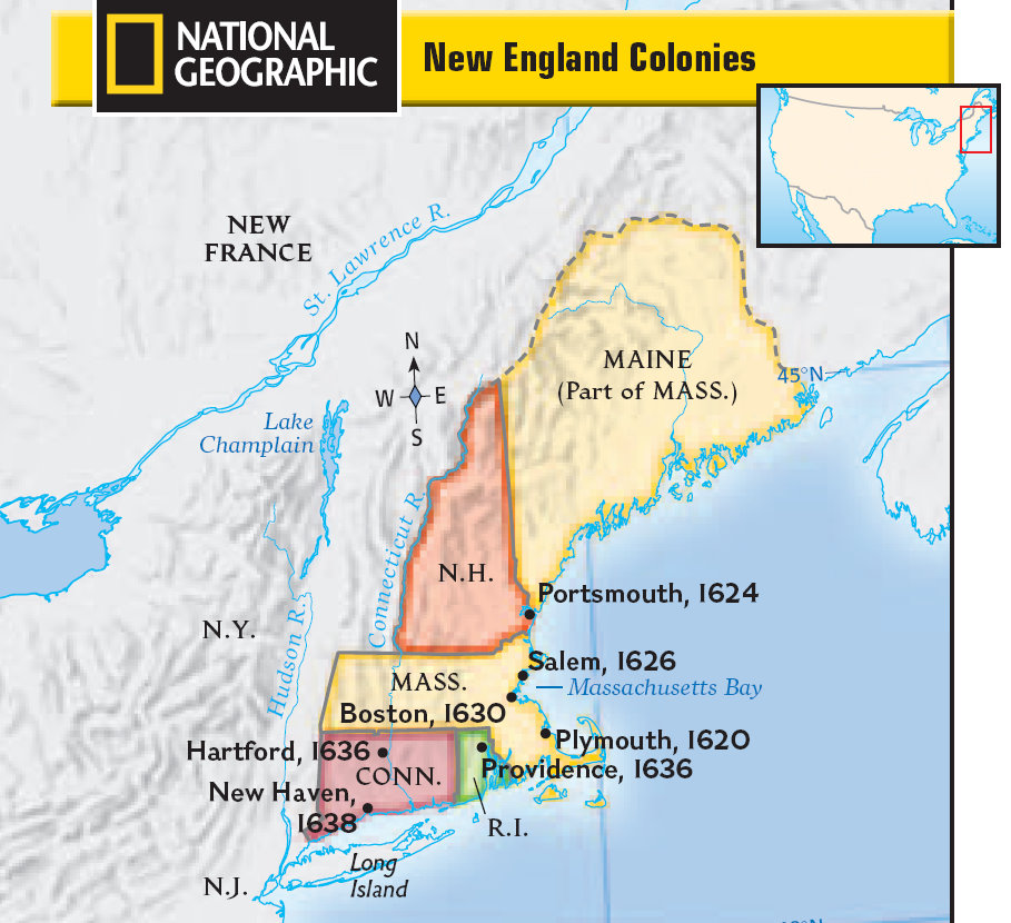 1800 S Colonial Scene On Demand: New England