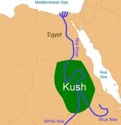The egyptian Kush map