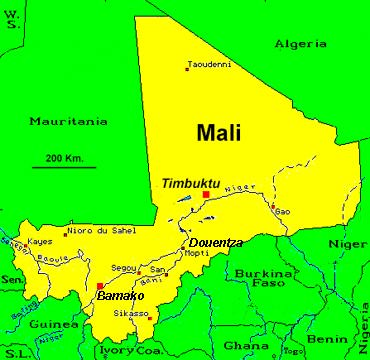 Mali West Africa Map
