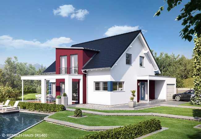stadtvilla mit carport und garage. Black Bedroom Furniture Sets. Home Design Ideas
