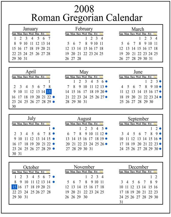 Year Calendar History : Gregorian calendar michael joseph letizia iii