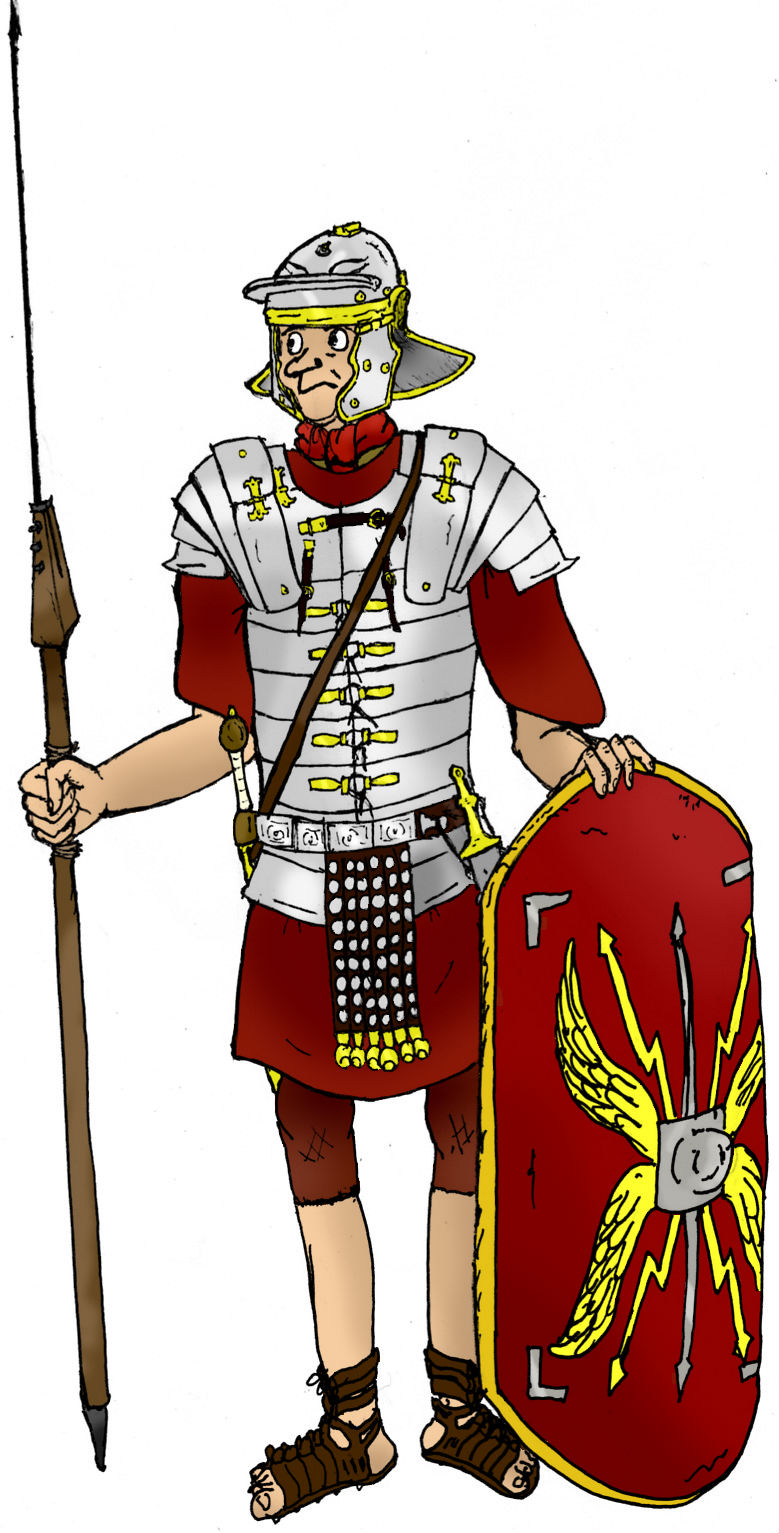 De uitrusting van een romeinse soldaat for Romeins schild