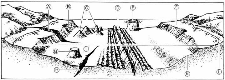 continental shelf  continental slope  volcanic island  mi