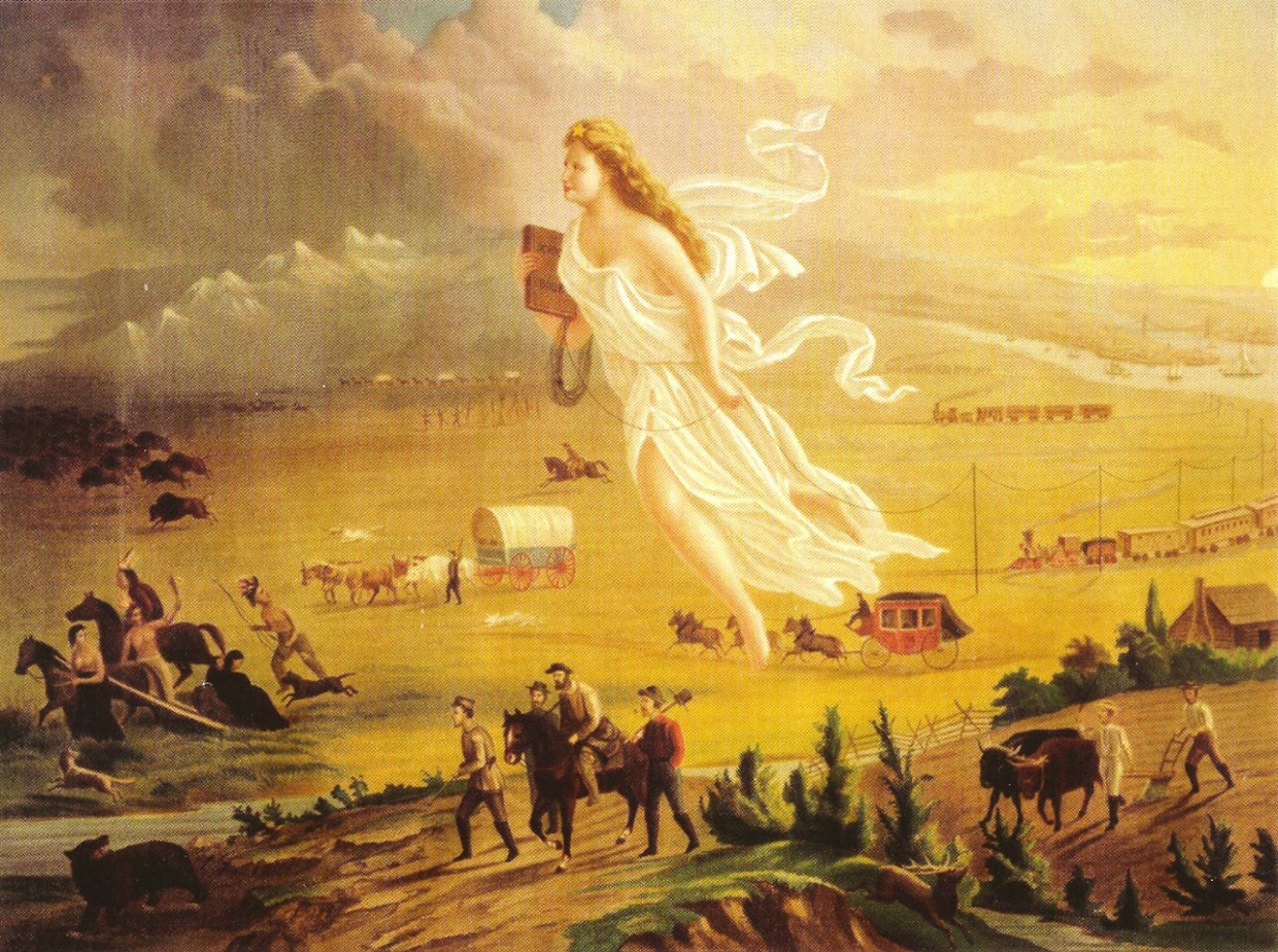 the meaning of manifest destiny a painting by john gast What does the angel in this painting (manifest destiny)  what does the painting manifest destiny represent  john louis o'sullivan.