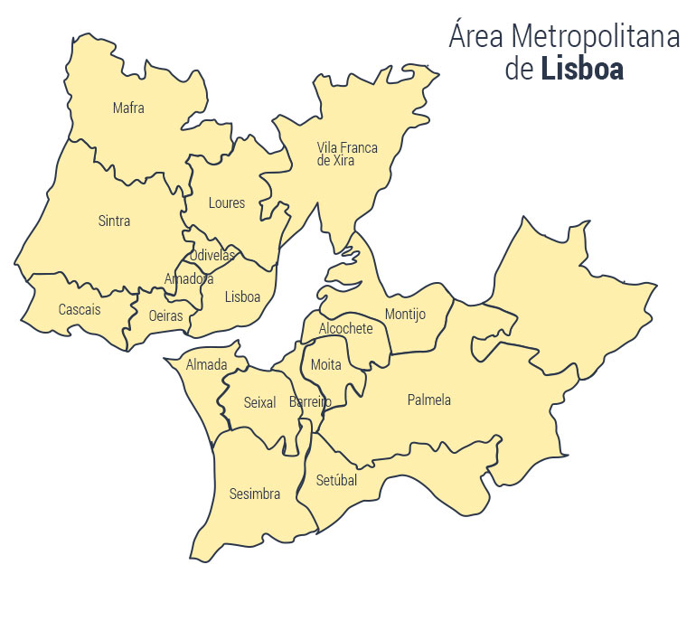 area metropolitana de lisboa mapa Luzes, bolo rei, animação. Quanto custou o Natal das autarquias  area metropolitana de lisboa mapa