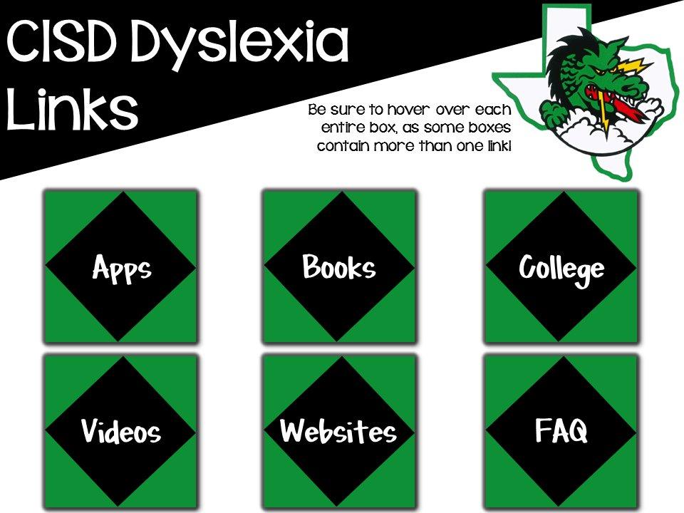 CISD Dyslexia Links
