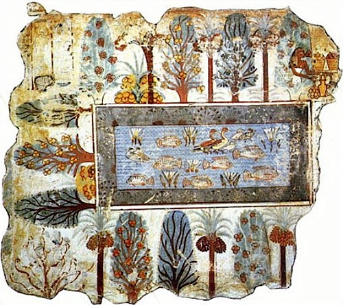 Stagno con giardino tomba di rekhmira kruezi denis 1g for Stagno giardino