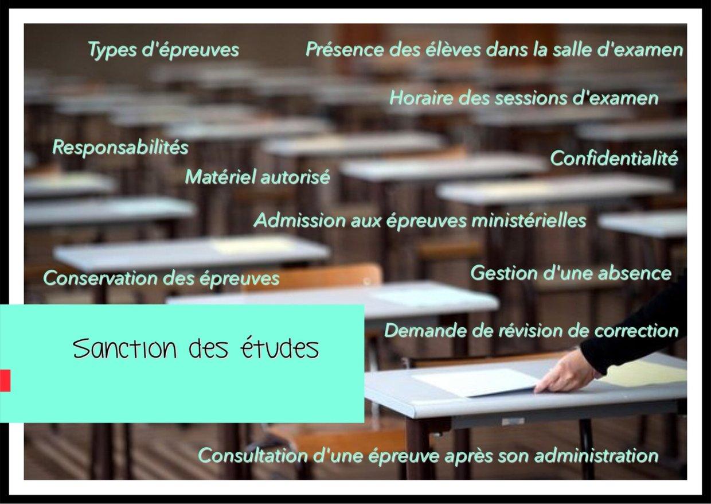 Sanction des études