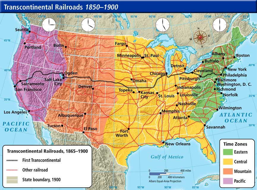 Jpg Railroads And The Making Of Modern America Search - Map of us railroads in 1900