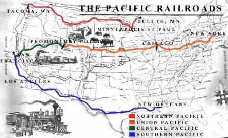 the significant impact of the transcontinental railroad The first transcontinental railroad in north america was built in the 1860s, linking the well developed railway network of the east coast with rapidly growing california the main line was officially completed on may 10, 1869.