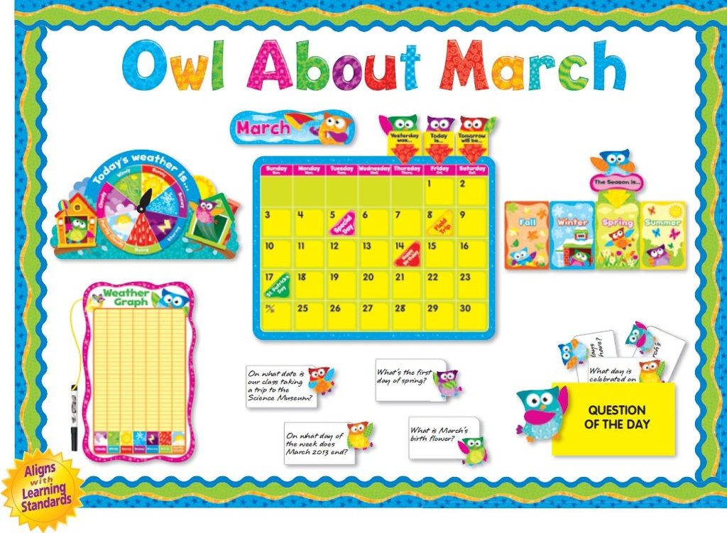 Classroom Decorations For March ~ Owl about march bulletin board thinglink