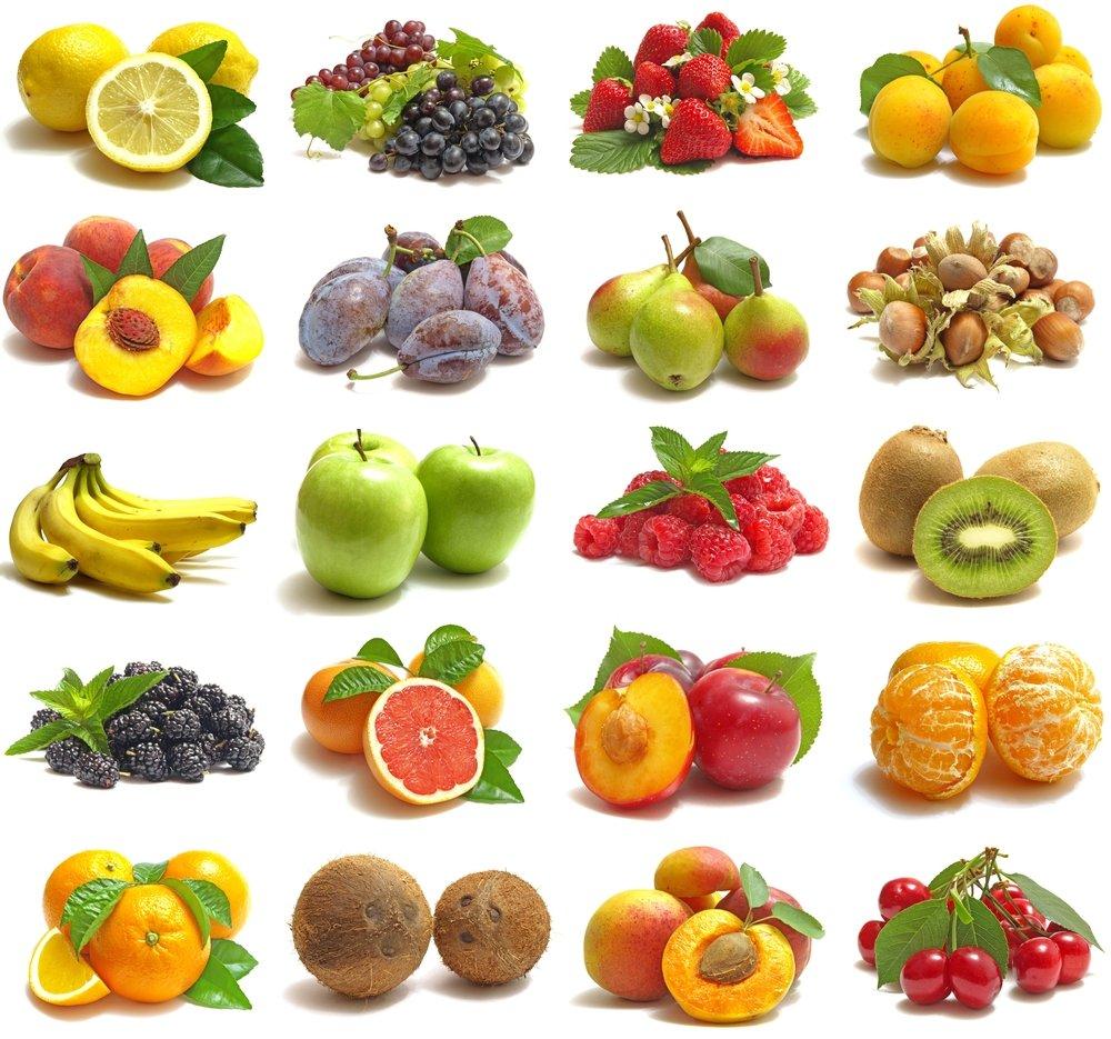 Limon, Uvas, Fresas, Pera, Manzana, Naranja, Platano, Ceraza