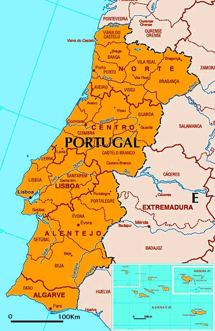 Portugal Brayden Laslo ThingLink - Portugal map