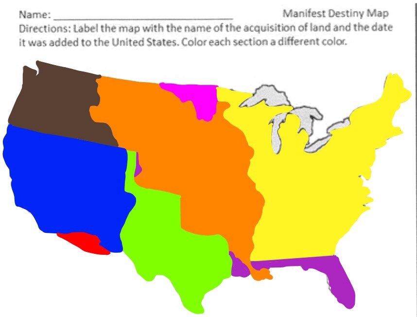 Manifest Destiny Map ThingLink - Us manifest destiny map