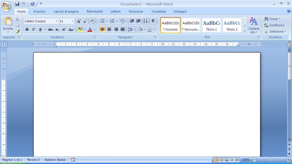 L Interfaccia Di Word 2007