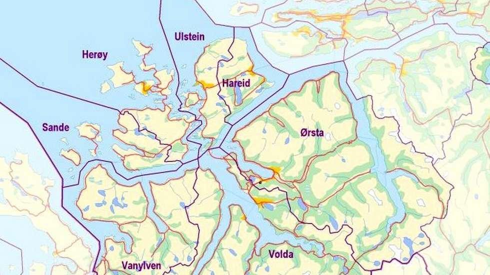 kart over søre sunnmøre Ingen friplasser på Søre Sunnmøre   Features   Frå Nærnett i Volda  kart over søre sunnmøre