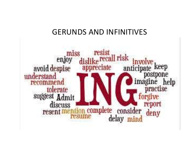 GERUNDS AND INFINITIVES WITH DIFFERENCE IN MEANING