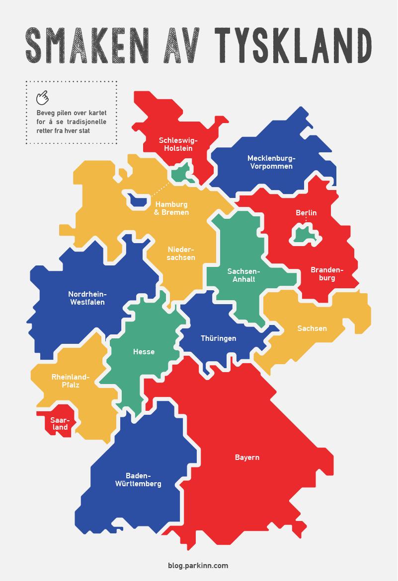 tyske delstater kart Smaken av Tyskland   Park Inn by Radisson Norge tyske delstater kart