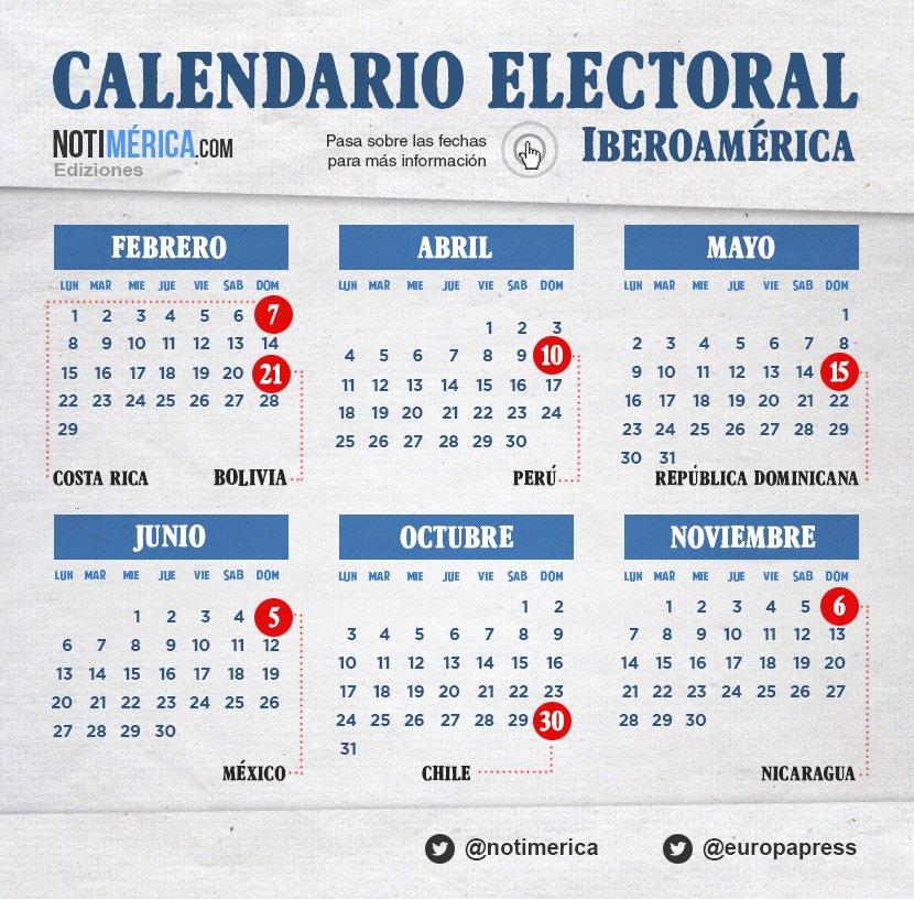 Calendario Elecciones 2020.Calendario Electoral De Iberoamerica En 2016
