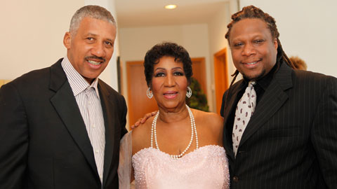 These are two of Aretha Franklin's children (two not show ...  These are two o...