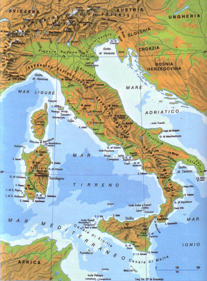 Cartina Dell'italia Divisa Per Regioni